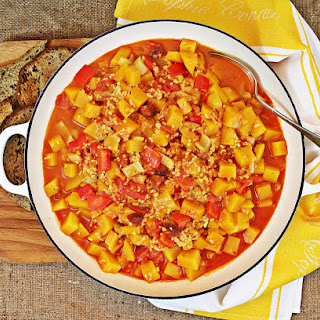 One Pot Butternut Squash and Chorizo Casserole