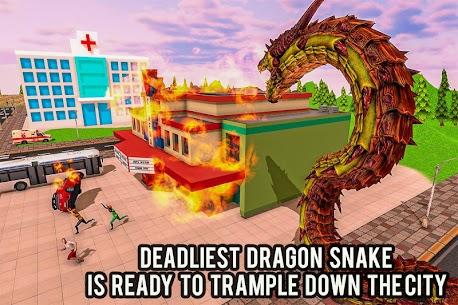 Furioso anaconda dragão serpente cidade rampage 1.0 Mod Apk 5