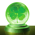 Lucky fortune teller and lucky charms icon