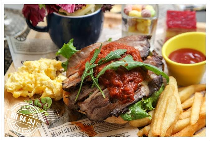 世奇商旅爐烤牛肉法式開麵三明治
