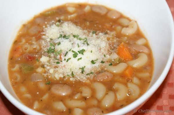 This Picture Is Just A Representative Of The Pasta E Fagioli I Posted.  It Doesn't Show The Different Beans, The Cabbage & Escarole Etc.