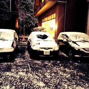 i <3 u by Harshit Bansal - City,  Street & Park  Street Scenes ( love, car, art, street, snow )