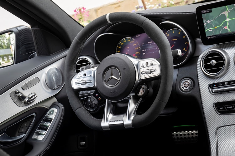 The interior of the Mercedes-AMG C63.