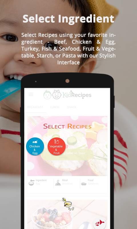 Kid Friendly Recipes- screenshot