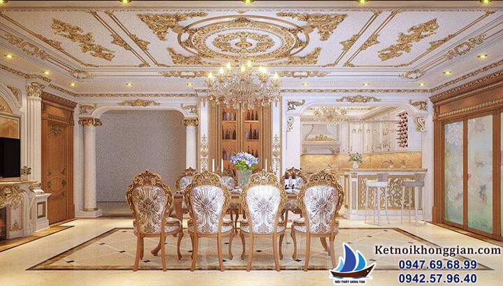 thiết kế nội thất phòng khách sang trọng đẳng cấp