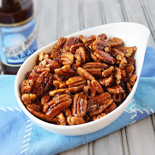 Beer and Bacon Glazed Pecans.