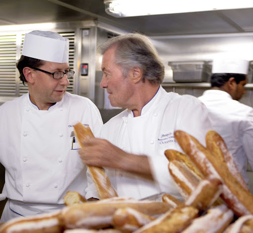 Oceania-Jacques-Pepin.jpg - Jaques Pepin, executive culinary director for Oceania Cruises, works to make every passenger's meal a memorable one.