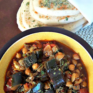 Eggplant Chickpea Curry.