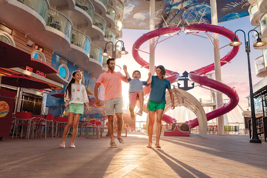 Head to the Boardwalk on Symphony of the Seas for carnival rides, games, ice cream and more family fun.