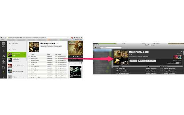 Open in Spotify desktop client