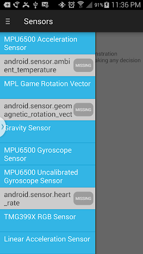 Sensors for android