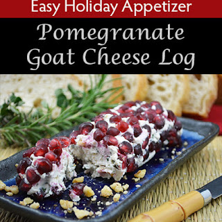 Pomegranate Herbed Goat Cheese Log