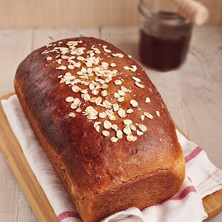 Whole Wheat Honey Oatmeal Bread #BreadBakers