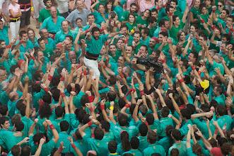 Photo: Tarragona (Tarragones) 5.10.2014. Concurs de castells. Los de Vilafranca celebrando la victoria del concurs. Foto: Joan Revillas