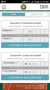 The Official Roland-Garros App- screenshot thumbnail