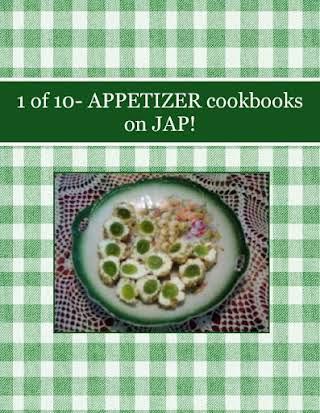 1 of 10- APPETIZER cookbooks on JAP!