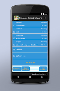 Reminder Shopping Memo screenshot 2