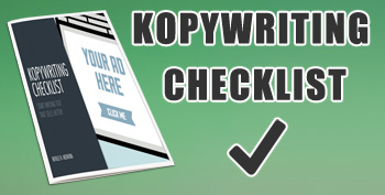 Kopywriting Checklist Banner