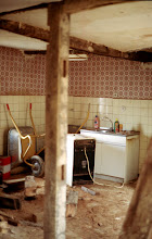 Photo: Removal of the old kitchen appliances.