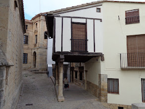 Photo: Ancient houses on the east side of Morella Basilica