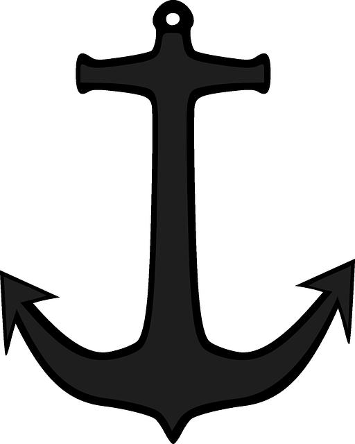 Horgony, Hajó, Csónak, Navy,