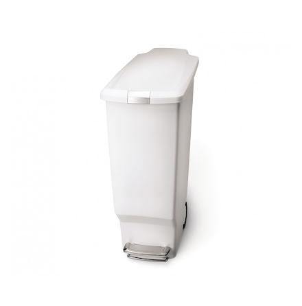 Smal pedaltunna Simplehuman, 40 liter, plast vit