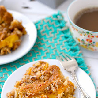 Fresh Peach Sour Cream Coffee Cake