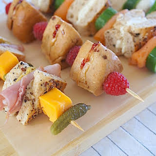 Lunch Box Bagel Kabobs.