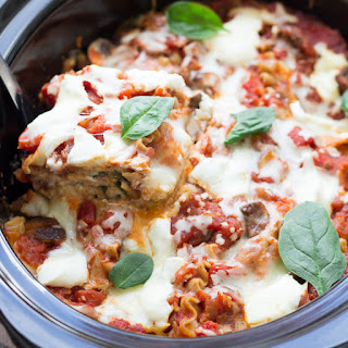 Slow Cooker Spinach Ricotta Lasagna