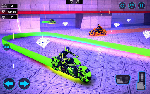 moto light trail stunt:racing battle screenshot 3