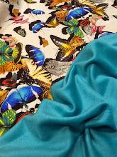 Photo: Ткань: Плательная, стиль Valentino, 80%- вискоза, 20%-шерсть, ш.140 см., 3200р. Ткань: Пальтовая,Кашемир , ш.150см., 8000р.