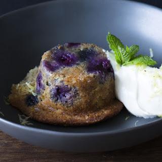 Banana Blueberry Puddings.
