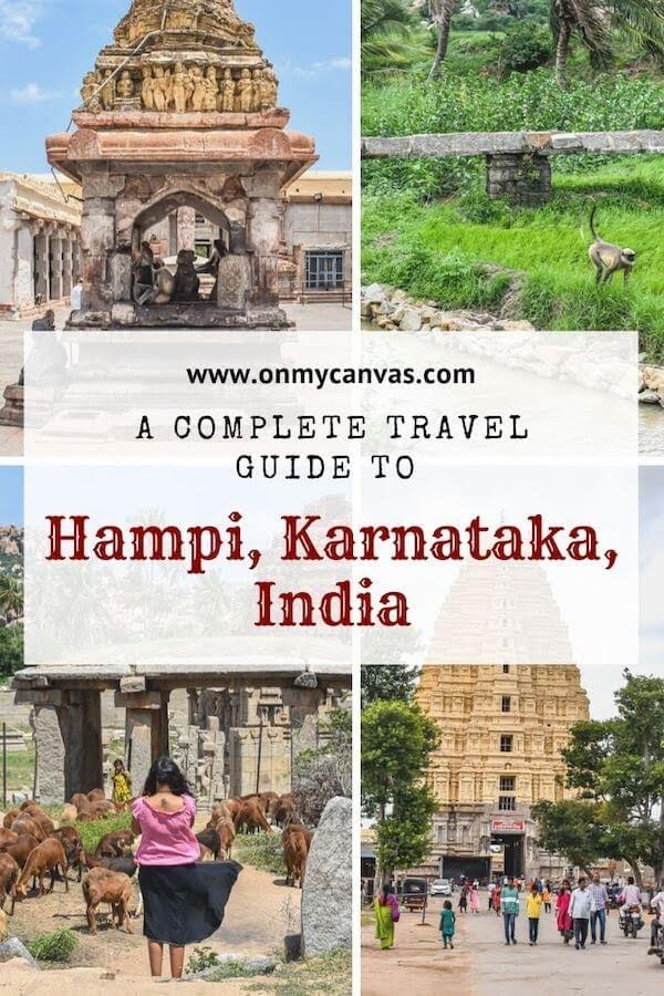 things to see in hampi pinterest image