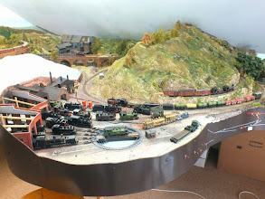 Photo: 023 And here we are back to the very well stocked motive power depot, having completed a full circuit of this extremely extensive layout . I've counted 23 locomotives in this photo, but there may well be more !