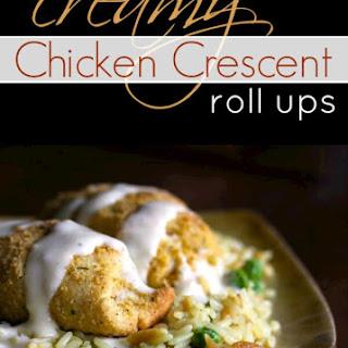 Easy Chicken Crescent Roll Ups.