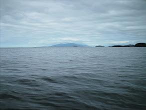 Photo: Calvert Island in the distance across Queen Charlotte Sound.