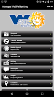 Screenshot of Wanigas Credit Union Mobile