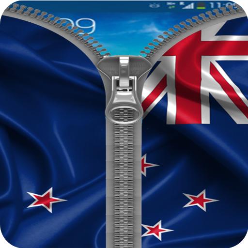 New Zealand Flag Zipper Lock
