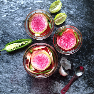 Quick Pickled Watermelon Radish
