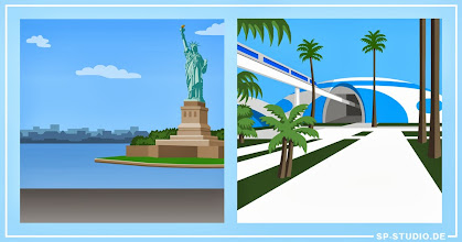 """Photo: UPDATE! Two new backgrounds were included at www.sp-studio.de. Your favorite idea was New York's Statue of Liberty, so here it is! The second image was inspired by the futuristic """"Venus Project"""" and was a wish by contest winner TDC. A new vote has been added to the sidebar based on your requests, so let's see what the final places-update will look like. I decided to pick countries which were not chosen yet to make it a little bit more interesting. Please vote :)."""