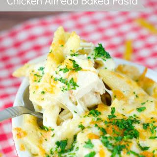 Chicken Alfredo Baked Pasta