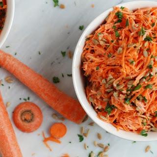 Simple Carrot Salad with Lemon Vinaigrette.