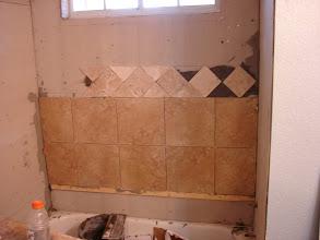 Photo: starting shower surround job.