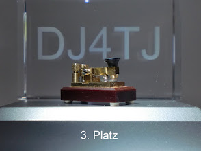 Photo: Kleinste funktionierende Taste  3.Platz beim Unikate-Wettbewerb des DARC  Ham-Radio 2011 hergestellt von Heinz Schlüter DJ4TJ