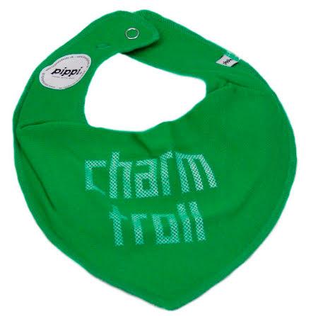 PIPPI Haklapp/Dregellapp text, Charm Troll green
