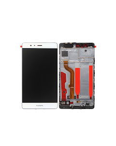 Huawei P9 LCD Display with Frame White