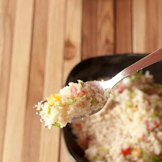 Couscous Paneer Salad with Lemon Dressing