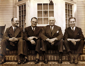 Photo: Webbley, Shelby NC L to R - Ralph, Decker (JWG), Daddy Max, Max Jr. 3-22-1941