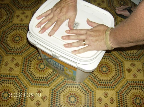 Place lids on soap and leave covered for 24 hours. Detergent may be thick...