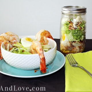 Shrimp and Bacon Salad in a Jar